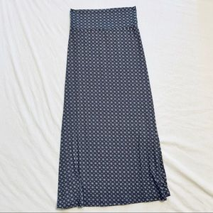 Very Soft and Comfy Blue Maxi Skirt